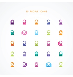 25 people icons vector
