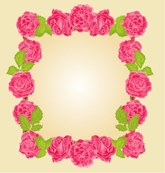 Frame with roses greeting card festive background vector