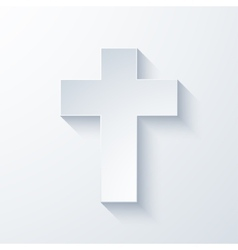 Modern religious cross icon vector