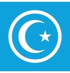 Turkey symbol sign icon vector