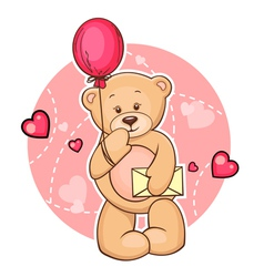 Teddy bear with message vector
