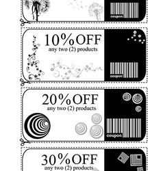 Discount cards vector