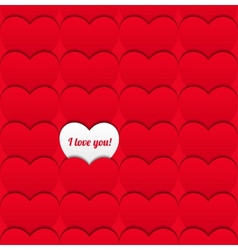 Seamless love pattern of hearts vector