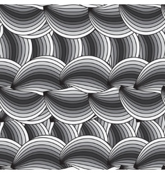 Horizontal seamless texture with waves vector