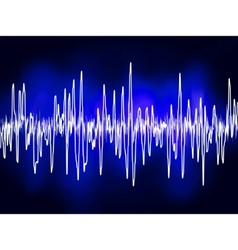 Electronic sound waves vector