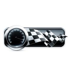 Racing banner vector