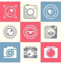Set of icons and logos photo vector