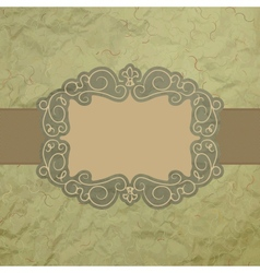 Vintage worn card vector