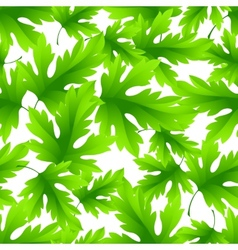 Seamless green leaves background vector