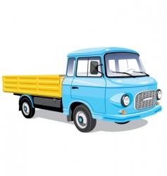 Mini cargo truck vector