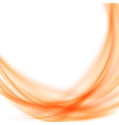Satin abstract orange smooth background vector