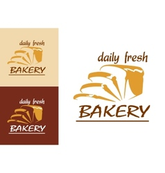 Slices of bread as bakery emblem vector