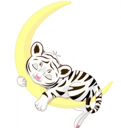Tiger cub vector