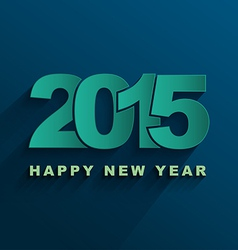 Happy new year 2015 text design vector