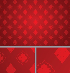 Red vintage diamond distressed seamless background vector