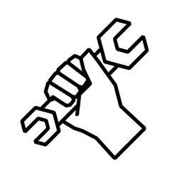 Hand tool design vector