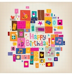 Happy birthday card 15 vector