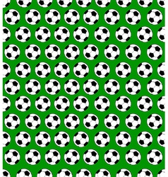 Seamless soccer ball pattern vector