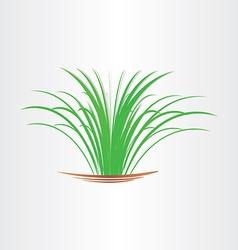 Green grass abstract design element vector