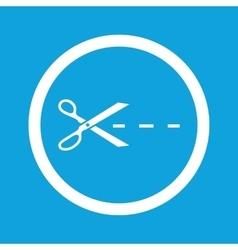 Cut sign icon vector