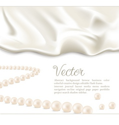Silk and pearls background vector