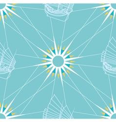 Seamless sailing pattern vector