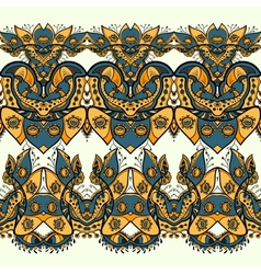 Ethnic horizontal seamless pattern indian ornament vector