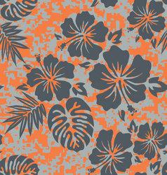 Orange grey aloha vector