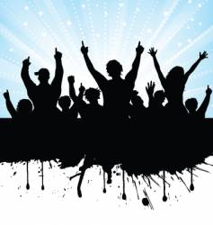 Excited audience vector