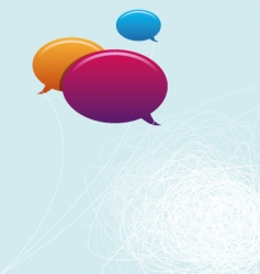 Speech bubbles copy space vector