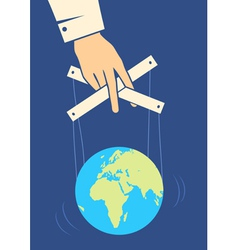 Hand controls the earth vector