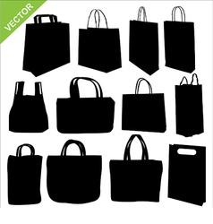 Shopping bag silhouettes vector