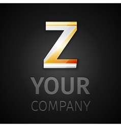 Abstract logo letter z vector
