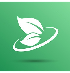 Leaf icon green symbol nature fresh sign element vector