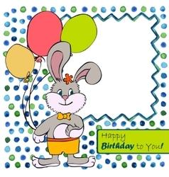 Card with bunny boy vector