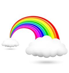 Shiny rainbow vector