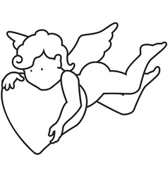 Outline angel vector