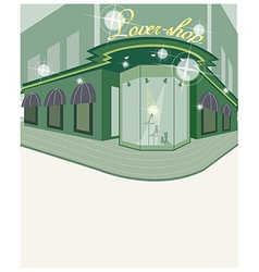 Street shop view vector