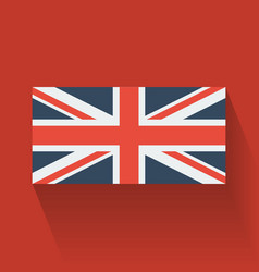 Flat flag of the uk vector