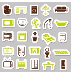 Home equipment stickers vector