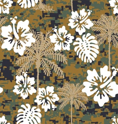Hawaiian marine camo vector