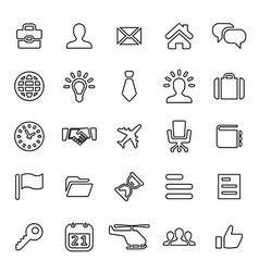 25 outline universal business icons vector