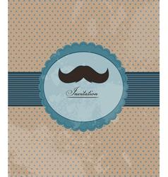 Moustache background invitation vector