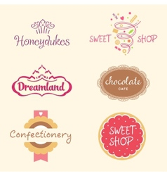 Set logos sweets vector