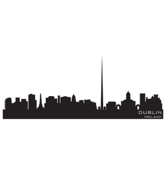 Dublin ireland skyline detailed silhouette vector