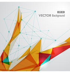 Colorful web geometric transparency vector