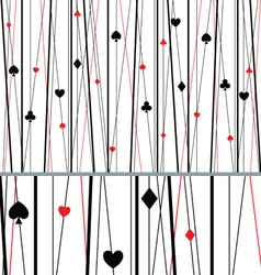 Abstract seamless poker pattern vector