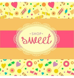 Sweet shop vector
