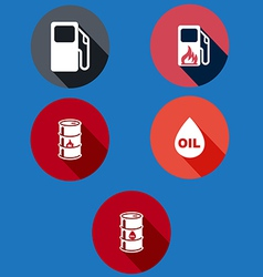 Set of information icons flat vector