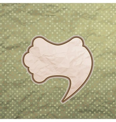 Vintage speech bubble design vector